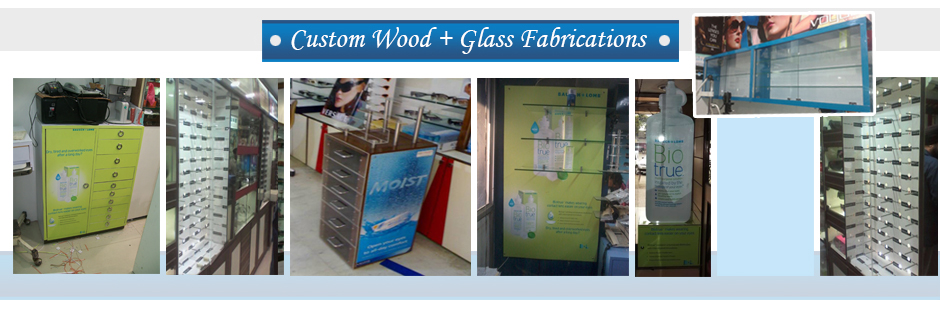 Custom Wood + Glass Fabrications